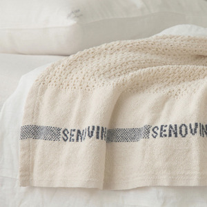 [재입고] Fog Linen Lithuanian Cotton Blanket (130 x 205 cm)