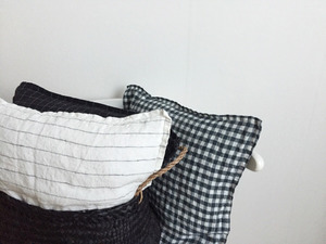 French Linen Cushion (Tennis Stripe)